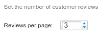 Amount of reviews per page displayed within MyReviews. Change this in the application configuration to affect how many reviews are displayed on each page.